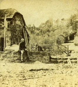 Isle of Wight Shanklin Chine Old Francis Frith Stereoview Photo 1865
