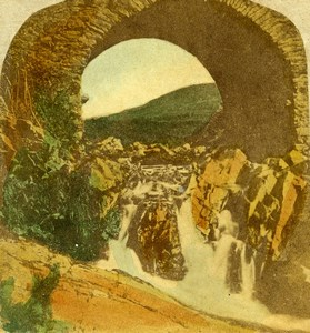 Ireland Donegal Drimnagh Finnegal Bridge Old Stereoview Photo 1865