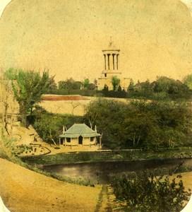 Scotland Alloway Burns Monument Brig o'Doon Old John Cramb Stereoview Photo 1865