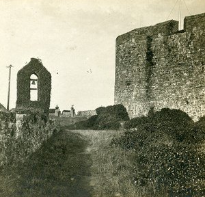 United Kingdom Jersey Montorgueil castle Terrace Old Stereoview Photo SIP 1900