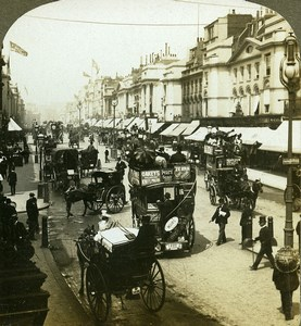 United Kingdom London Regent Street Busy Old Stereoview Young 1901