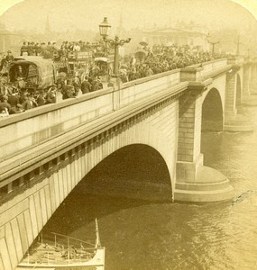 London Bridge Old Stereoview Photo Underwood Strohmeyer & Wyman 1896