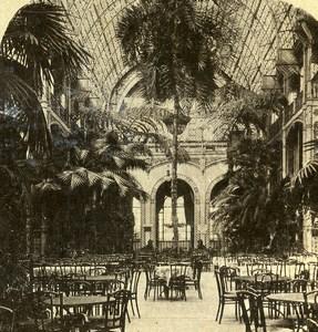 United Kingdom London Palm House Kew Gardens Old Stereoview Photo 1900