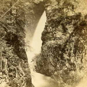 France Alpes Gorges de la Diosaz ancienne Photo Stereo Andrieu Block 1875