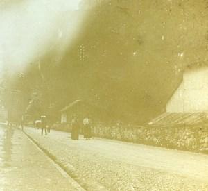 Switzerland Alps Meiringen & Reichenbach Old Amateur Stereoview 1900