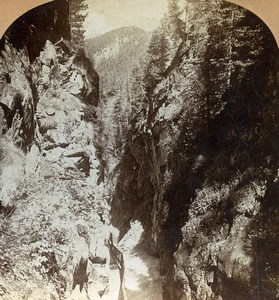 Switzerland Alps Gorner Gorge Riffelalp Old Stereoview Keystone Photo 1900