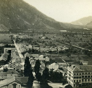 Switzerland Valais Vernayaz Panorama Old Stereoview Photo 1900