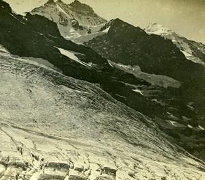 Switzerland Bernese Alps Eiger Glacier Jungfrau Amateur Stereoview Photo 1900