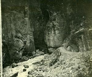 Switzerland Berner Oberland Lütschine Gorge Old Amateur Stereoview Photo 1900