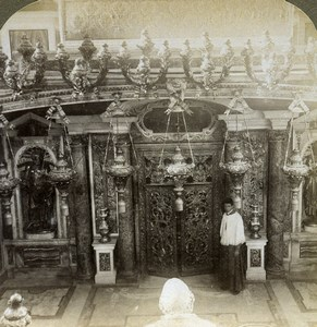 Roma Rome Vatican St Peter's Basilica Tomb Old Underwood Stereoview Photo 1900