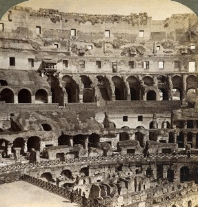 Italy Rome Roma the Colosseum Old Underwood Stereoview Photo 1900