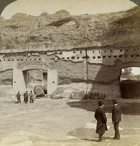 Italy Rome Roma Baths of Caracalla Old Underwood Stereoview Photo 1900