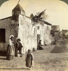 Italy Rome Roma Via Appia Street Scene Old Underwood Stereoview Photo 1900