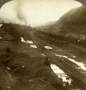 Panama Canal Construction Culebra Cut Old Stereoview Underwood 1904