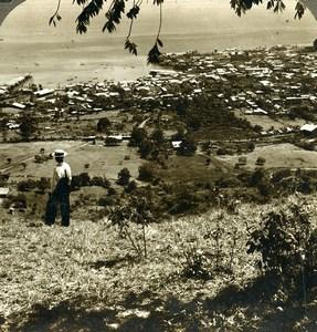 Panama City & Harbor Panorama Old Stereoview Underwood 1904
