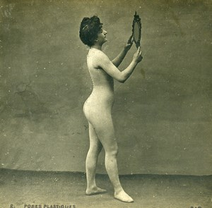 Woman Artistic Study Semi Nude Risque Poses Plastiques #2 Photo Stereo SIP 1900