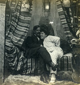 USA New York Cozy Corner Girl Series N.10 Old Climax View Co Stereoview 1900