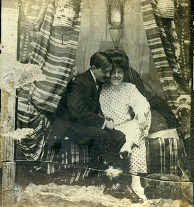 USA New York Cozy Corner Girl Series N.12 Old Climax View Co Stereoview 1900