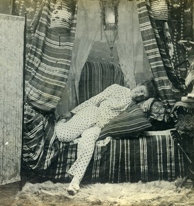 USA New York Cozy Corner Girl Series N.1 Old Climax View Co Stereoview 1900