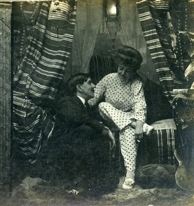 USA New York Cozy Corner Girl Series N.5 Old Climax View Co Stereoview 1900