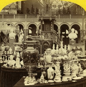 London 1862 International Exhibition Prussian Court Old Stereoview Photo