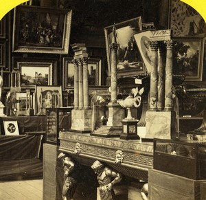 London 1862 International Exhibition Roman Court Old Stereoview Photo