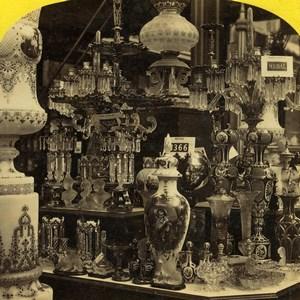 London 1862 International Exhibition Austrian Court Old Stereoview Photo