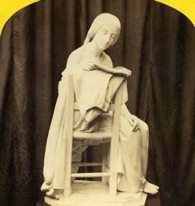 London 1862 International Exhibition Magni Sculpture Old Stereoview Photo