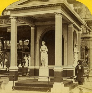 London 1862 International Exhibition Venus Temple by Gibson Old Stereoview Photo