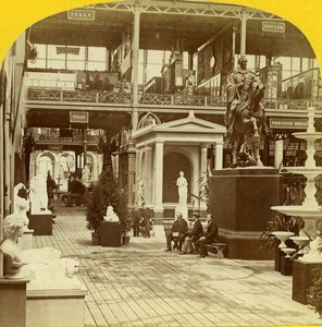 London 1862 International Exhibition Italian Court Old Stereoview Photo