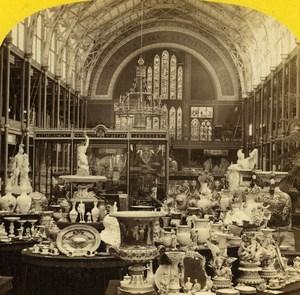 London 1862 International Exhibition North West Transcept Old Stereoview Photo