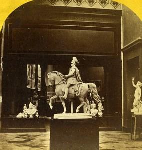 France Paris World Fair Equestrian Sculpture Old Stereoview 1867