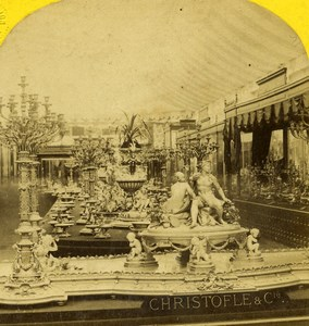 France Paris World Fair Christofle Silversmith Leon & Levy Stereoview Photo 1867
