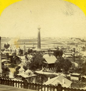 France Paris World Fair Panorama Lighthouse Leon & Levy Stereoview Photo 1867