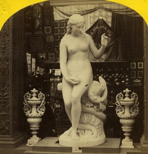 Paris World Fair Eve Fantacchiotti Sculpture Leon & Levy Stereoview Photo 1867