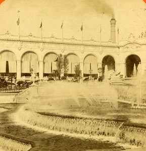 France Paris Expo Universelle Château d'Eau ancienne Photo Stereo 1900