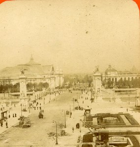 France Paris Expo Universelle Pont Alexandre ancienne Photo Stereo 1900