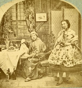 United Kingdom Scene de Genre Meat on Friday Old Stereoview Photo 1865