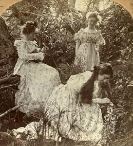USA Scene de Genre Pleasant Afternoon Old Keystone Stereoview Photo 1901