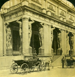Russia Saint Petersburg Hermitage Museum Art Gallery White Stereoview Photo 1901