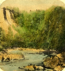 Scotland View of the river Ericht ? Old Photo Stereoview 1860
