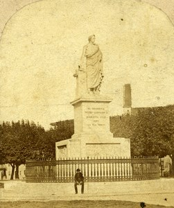 Italy Pisa Leopoldo II d'Asburgo-Lorena Statue Old Photo Stereoview 1860