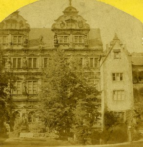 Germany Heidelberg Castle Friedrichsbau Old Radiguet Photo Stereoview 1860's