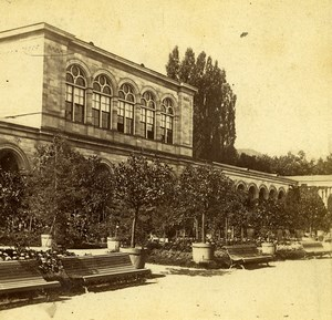 Germany Nice Palace Garden Plants Benches Old Photo Stereoview 1870