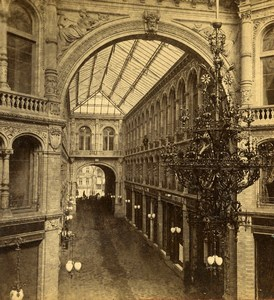 Germany Berlin-Mitte Kaisergalerie interior Photo Stereoview Stiehm Linde 1880