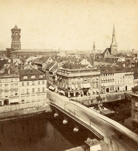 Germany Berlin Panorama Old Photo Stereoview Stiehm Linde 1880