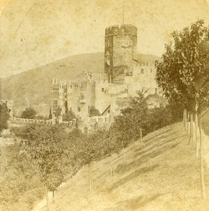 Germany Burg Lahneck Castle Old Photo Stereoview Jarvis 1890's