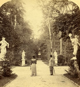Germany Potsdam Garden of Sans Souci Old Photo Stereoview Strohmeyer 1890's