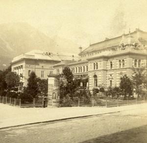 Autriche Tyrol Innsbruck Stadtsäle ancienne Stereo Photo 1890