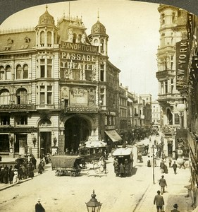 Germany Berlin Friedrichstrasse Busy Street Scene Old Photo Stereoview Rick 1900
